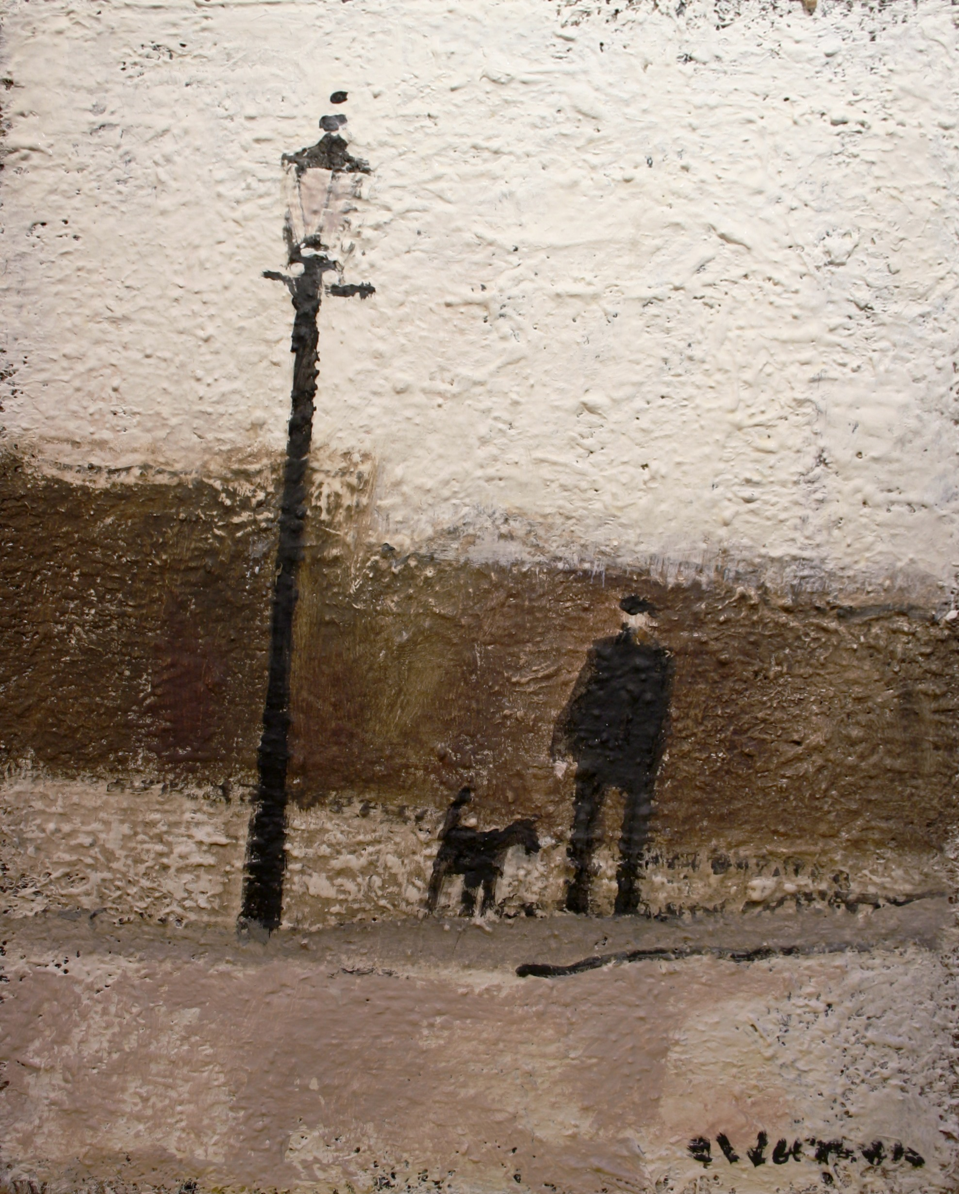 david alderman Lamp Post 16ins x 13ins oil 595