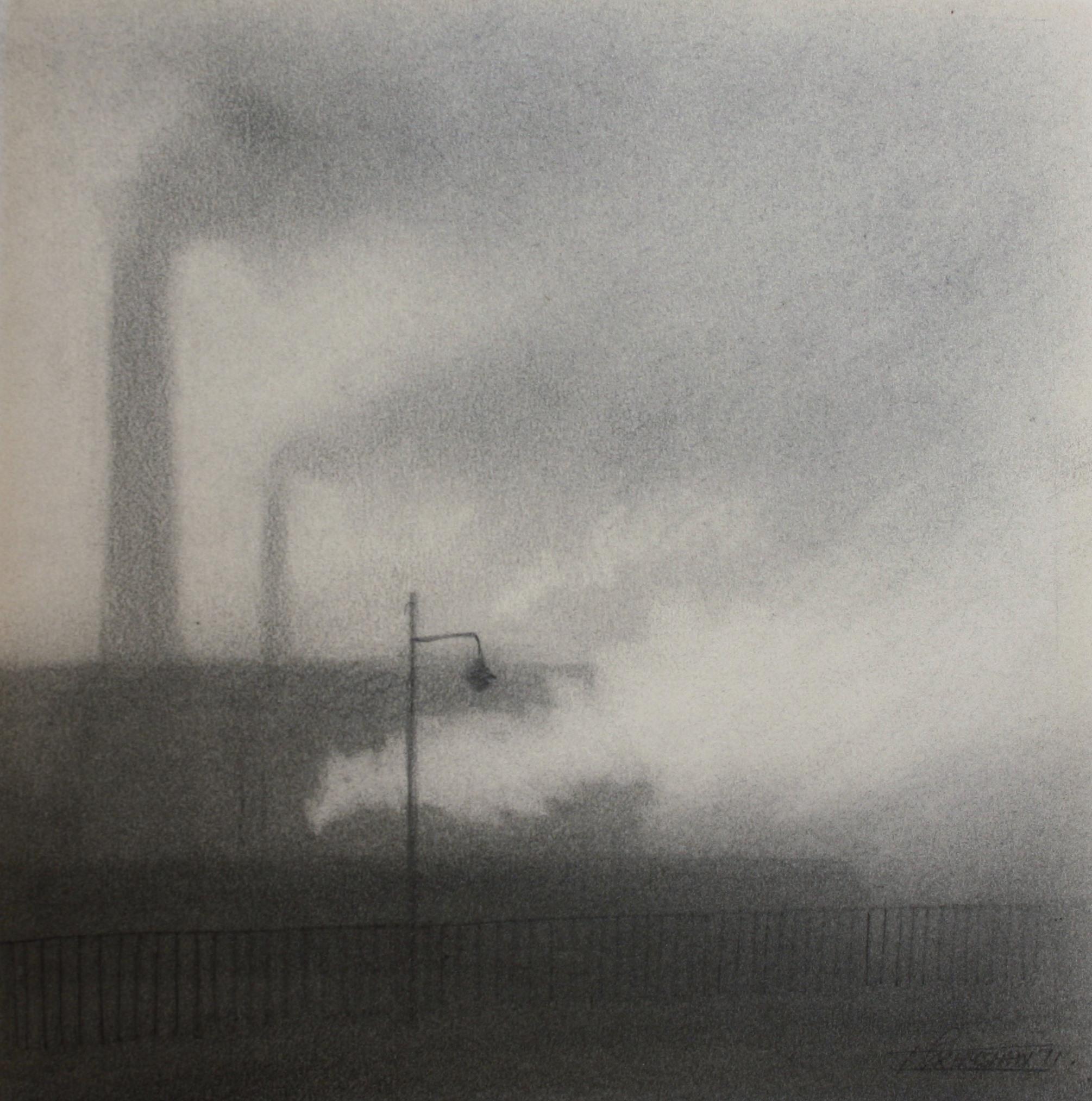trevor grimshaw pencil smoke & steam 6.5ins x 6ins 1675
