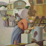 Harold Riley Painting in Macclesfield