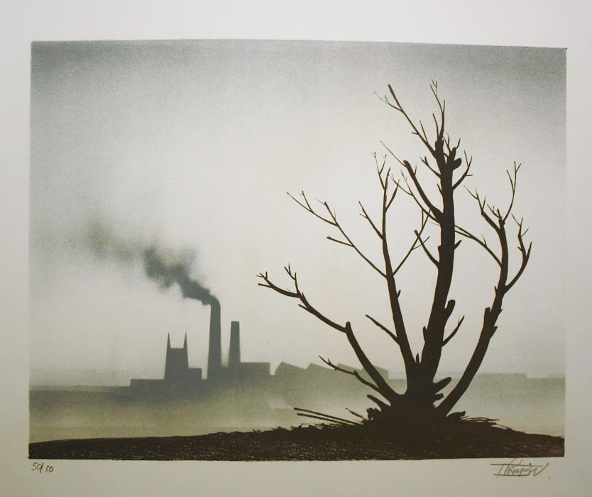 Tree, Church & Chimneys