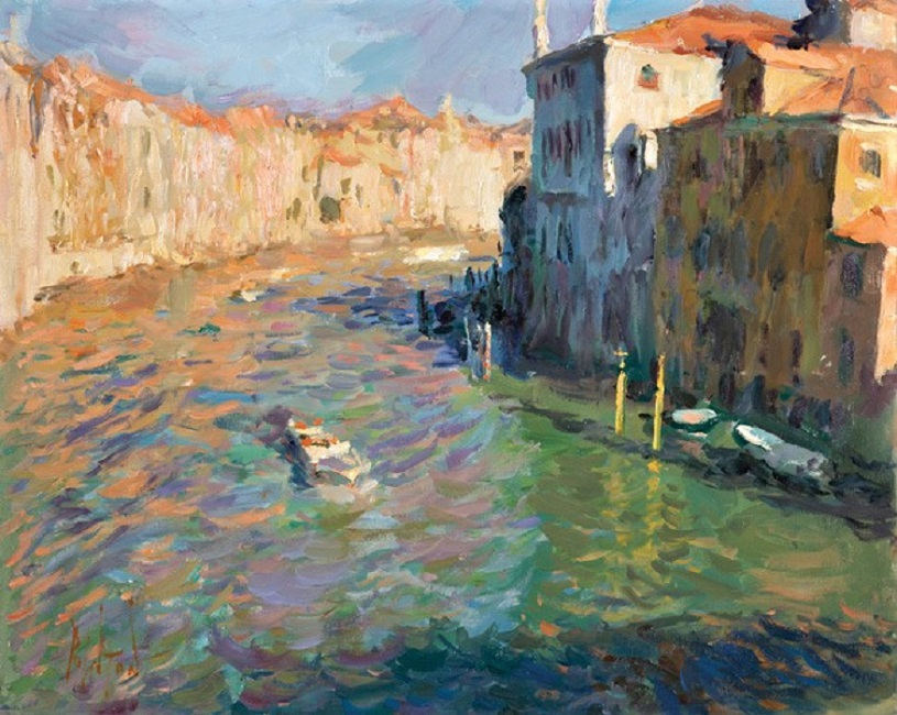 09-19-Morning-Light-on-the-Grand-Canal-from-Ponte-dell'Accademia,-40cmx50cm,-1550