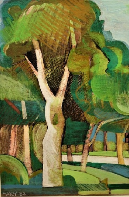 Geoffrey Key Painting in Poynton