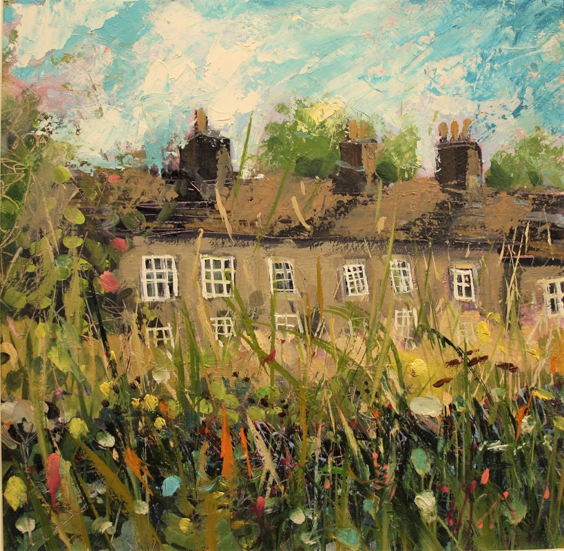 Carl Longmate The Cottages Oil 12ins x 12ins £595