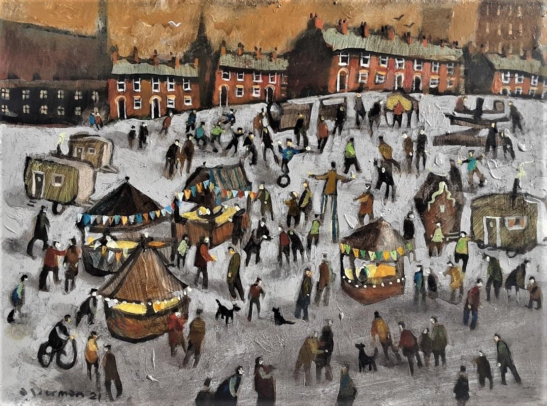 David Alderman At the Fair Oil 11ins x 15ins £695