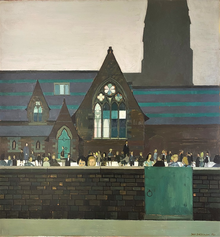 Derek Wilkinson Church School 1961 Oil 32ins x 30ins £1495