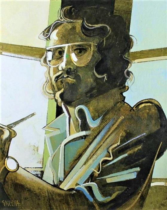 Geoffrey Key Self Portrait Oil 28ins x 22ins