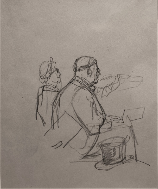 Harry Rutherford At The Threatre Pencil 7ins x 6ins £350
