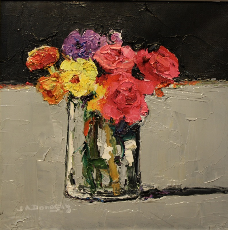 Judith Donaghy Flowers From The Garden Oil 8ins x 8ins £225