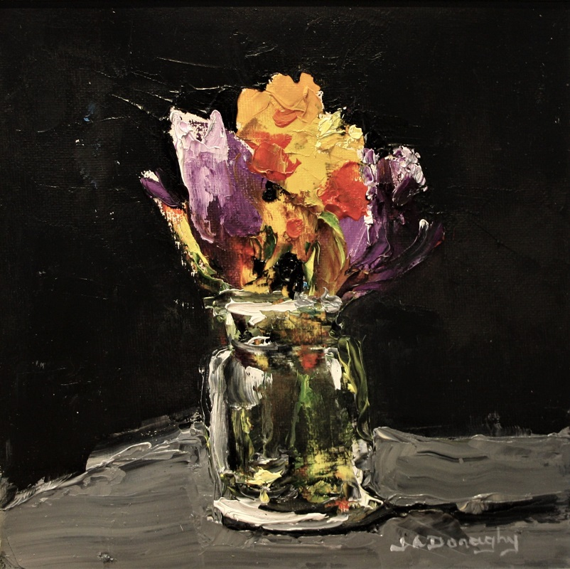 Judith Donaghy Spring In A Jar Oil 8ins x8ins £225