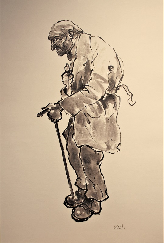 Kyffin Williams Old Farmer Lihigraph 23ins x 20ins £695