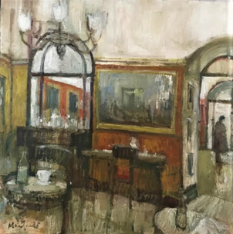 Lucy Manfredi Gusto Cafe I Oil 24ins x 24ins £950