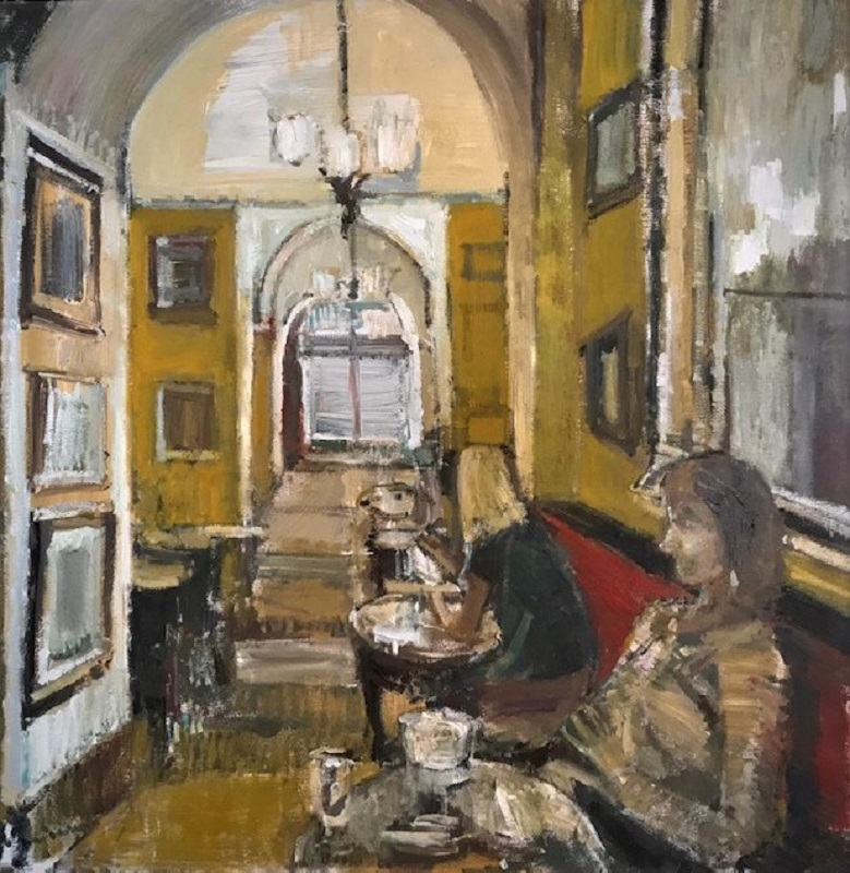 Lucy Manfredi Gusto Cafe III Oil 24ins x 24ins £950