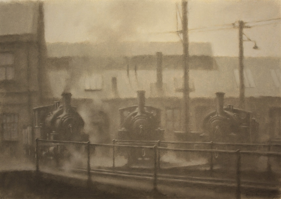 Martin Dobson Three in a Line Chalk and Pastel 16ins x 23ins £695