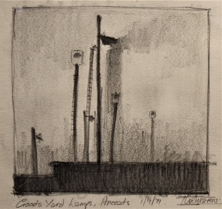 Trevor Grimshaw Pencil Goods Yard Ancoats 5ins x 5ins £895