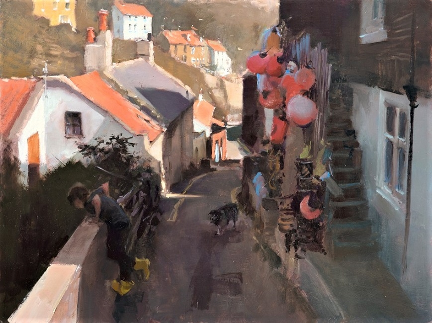 07-20-Lost-ball,-Staithes-18×24